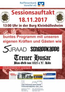 Read more about the article Sessionsauftakt der KG Nubbel am 18.11.17