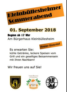 Read more about the article Kleinbüllesheimer Sommerabend 2018 1