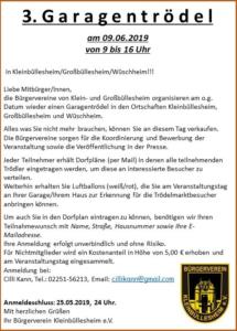 Read more about the article 3. Garagentrödel in Kleinbüllesheim